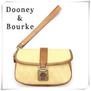 Dooney & Bourke Small Flap Wristlet Pouch Yellow
